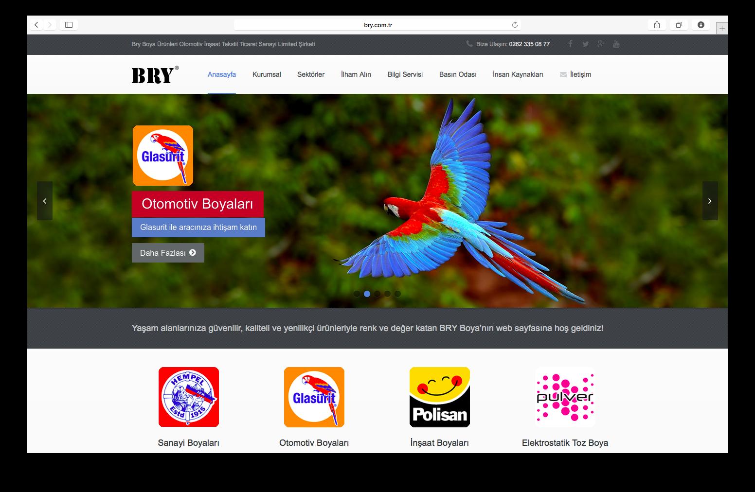 Bry Boya Web Sitesi Yenilendi