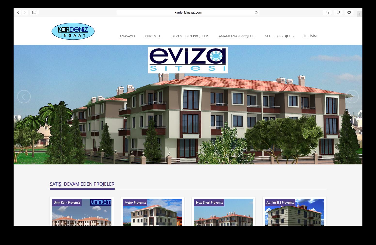 Kardeniz İnşaat Web Sitesi Yenilendi