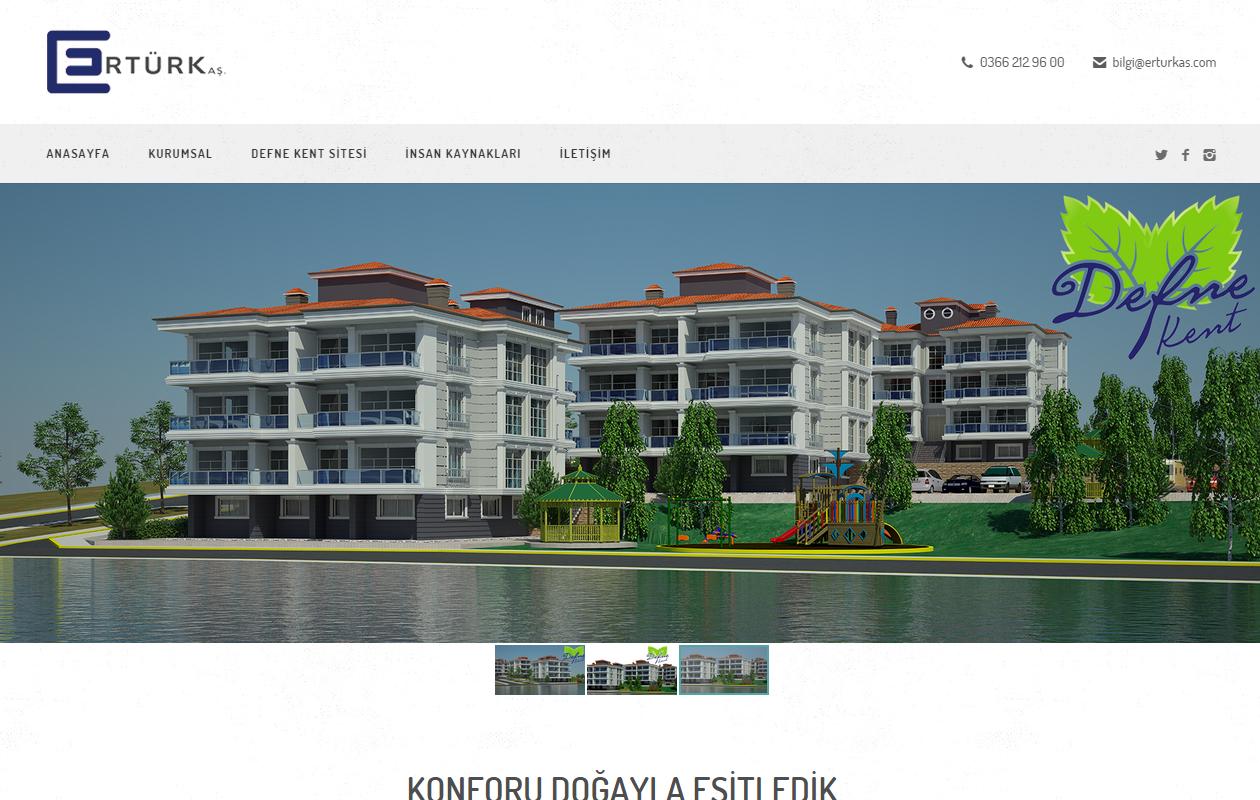 Ertürk AŞ. Web Sitesi Sizlerle