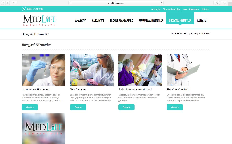 Medlife Laboratuvar Web Sitesi Sizlerle