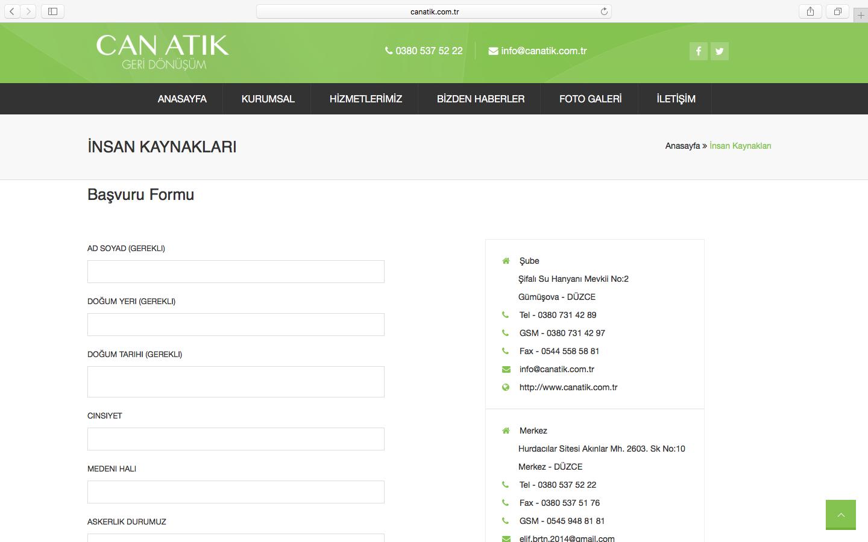 Can Atık Geri Dönüşüm Yenilenen Web Sitesi Sizlerle