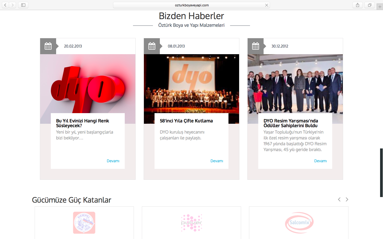 Öztürk Boya ve Yapı'nın Web Sitesi Yenilendi