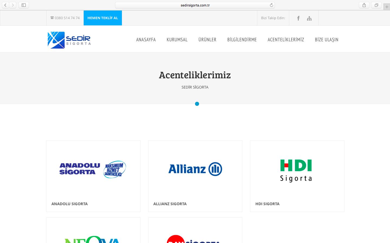 Sedir Sigorta Web Sitesini Yeniledik!