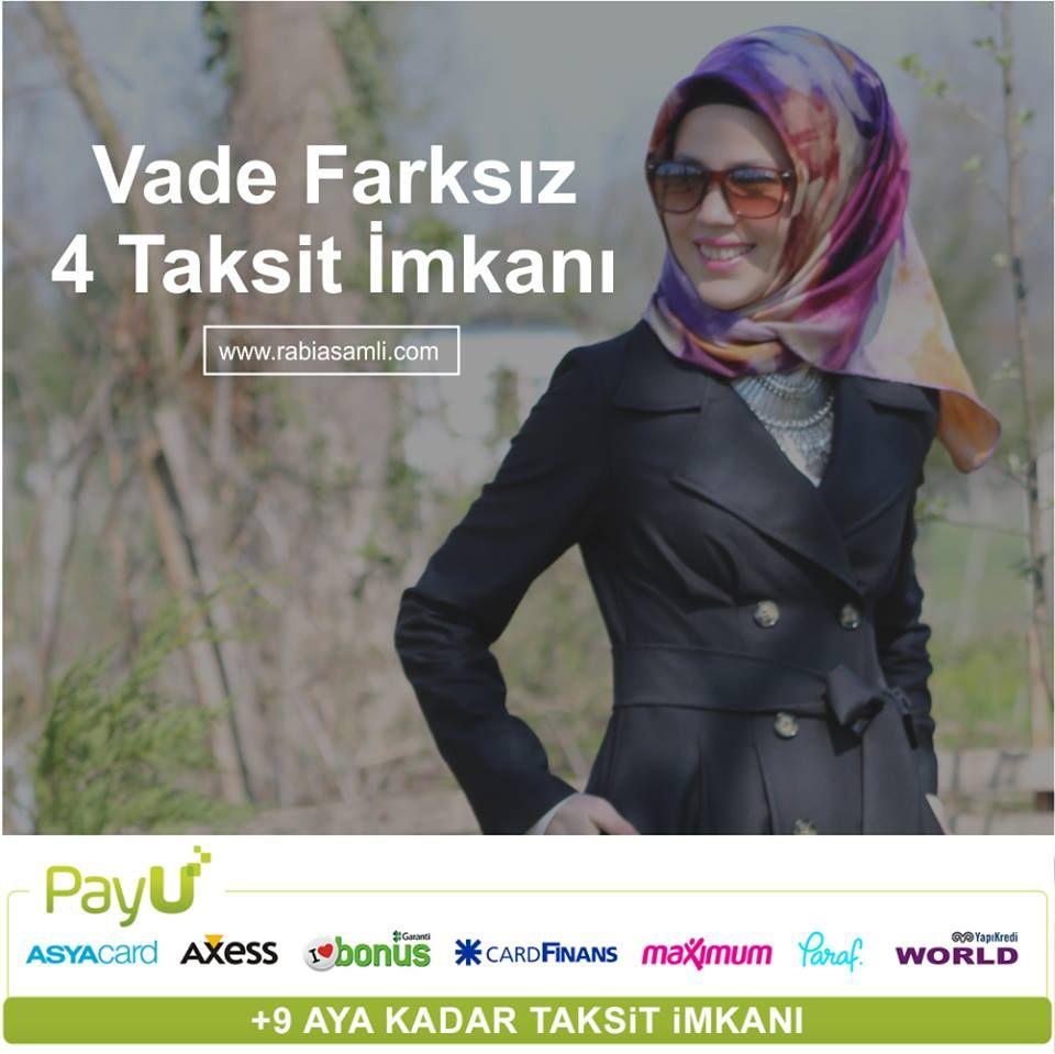 Seçilmiş insanlara seçkin tasarımlar, vade farksız 4 taksit imkanı ile şimdi www.rabiasamli.com'da.