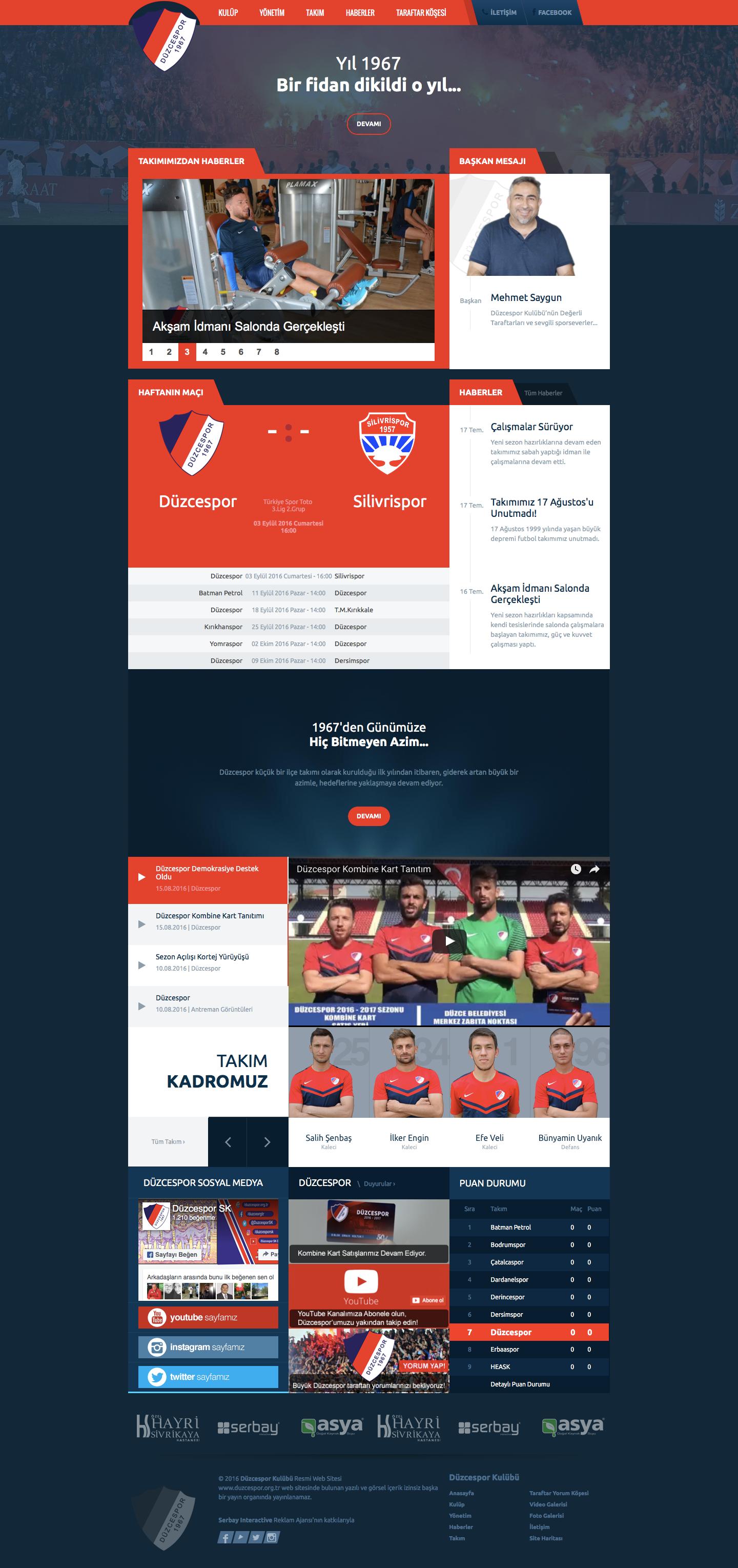 Düzcespor resmi web sitesi.