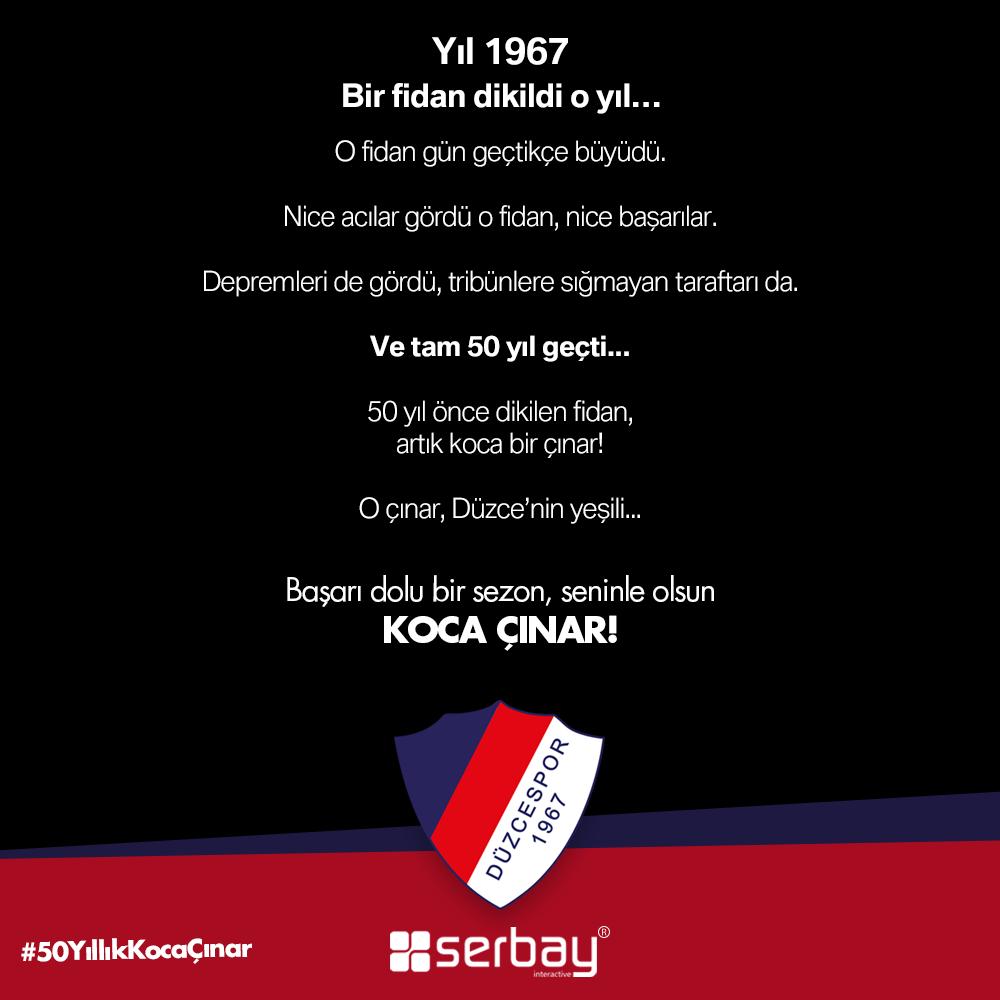 Başarı dolu bir sezon, seninle olsun Koca Çınar!