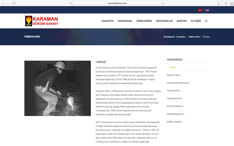 Karaman Döküm Web Sitesini Yeniledik!