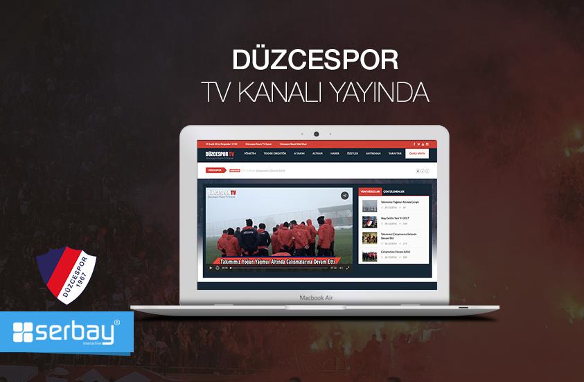 Düzcespor'a yeni yıl hediyemiz var :) Düzcespor Kulübü için hazırladığımız resmi TV kanalını yayına aldık. Yılın son projesi: www.duzcespor.tv