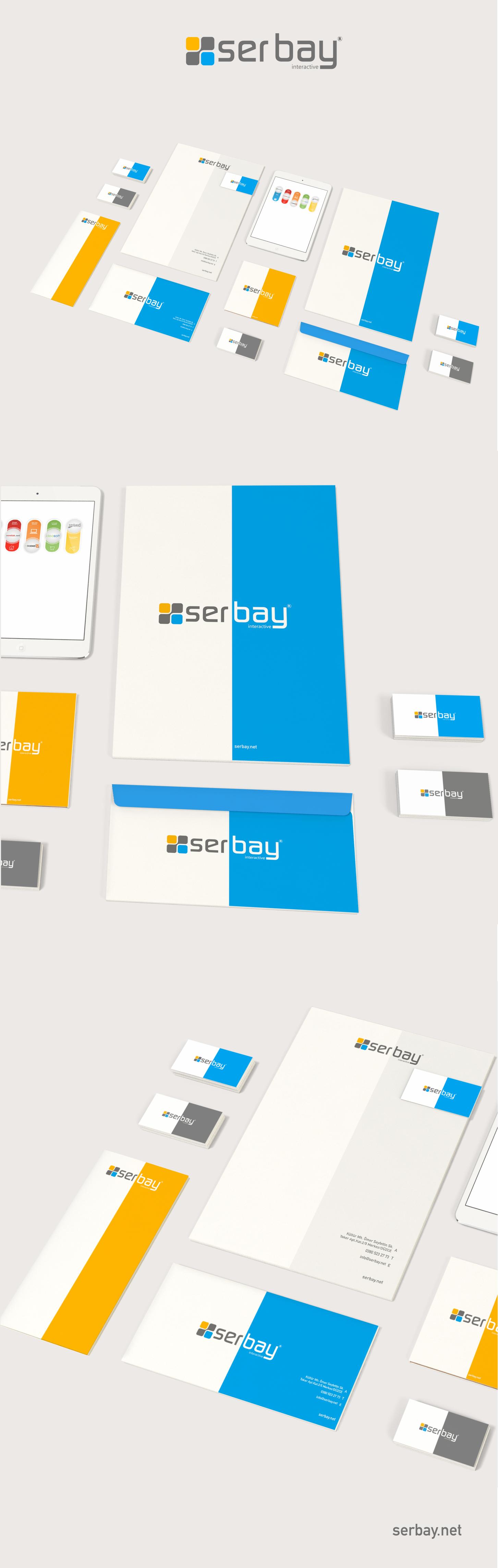 Serbay Interactive kurumsal kimlik çalışmamız.