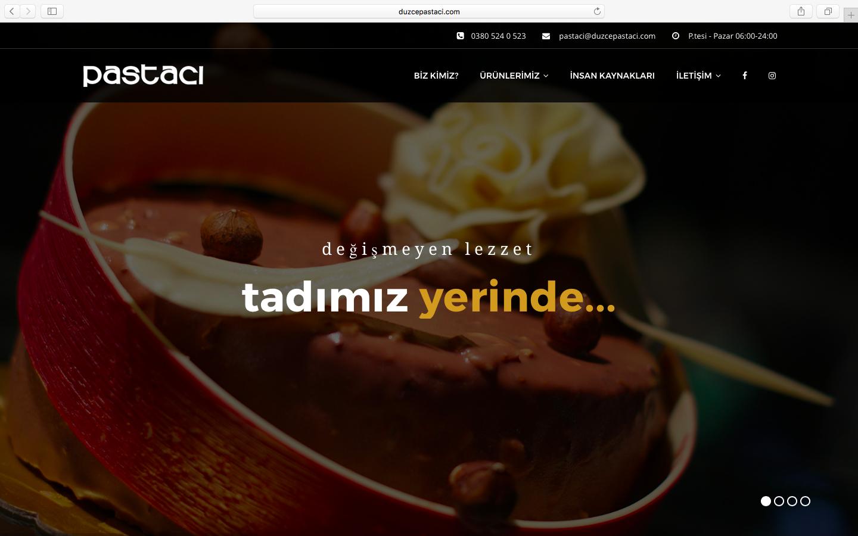 Düzce Pastacı Web Sitesi Yenilendi!