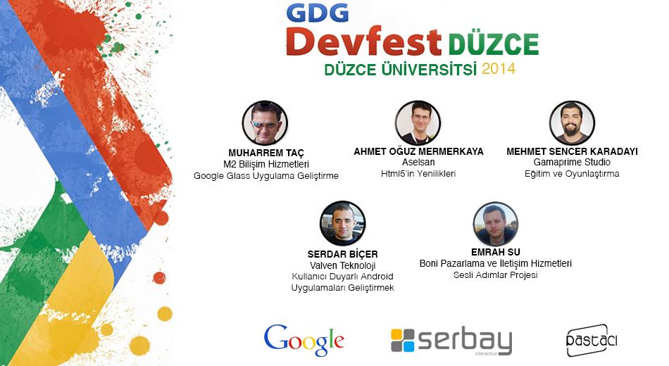 GDG DevFest Düzce konuşmacıları.