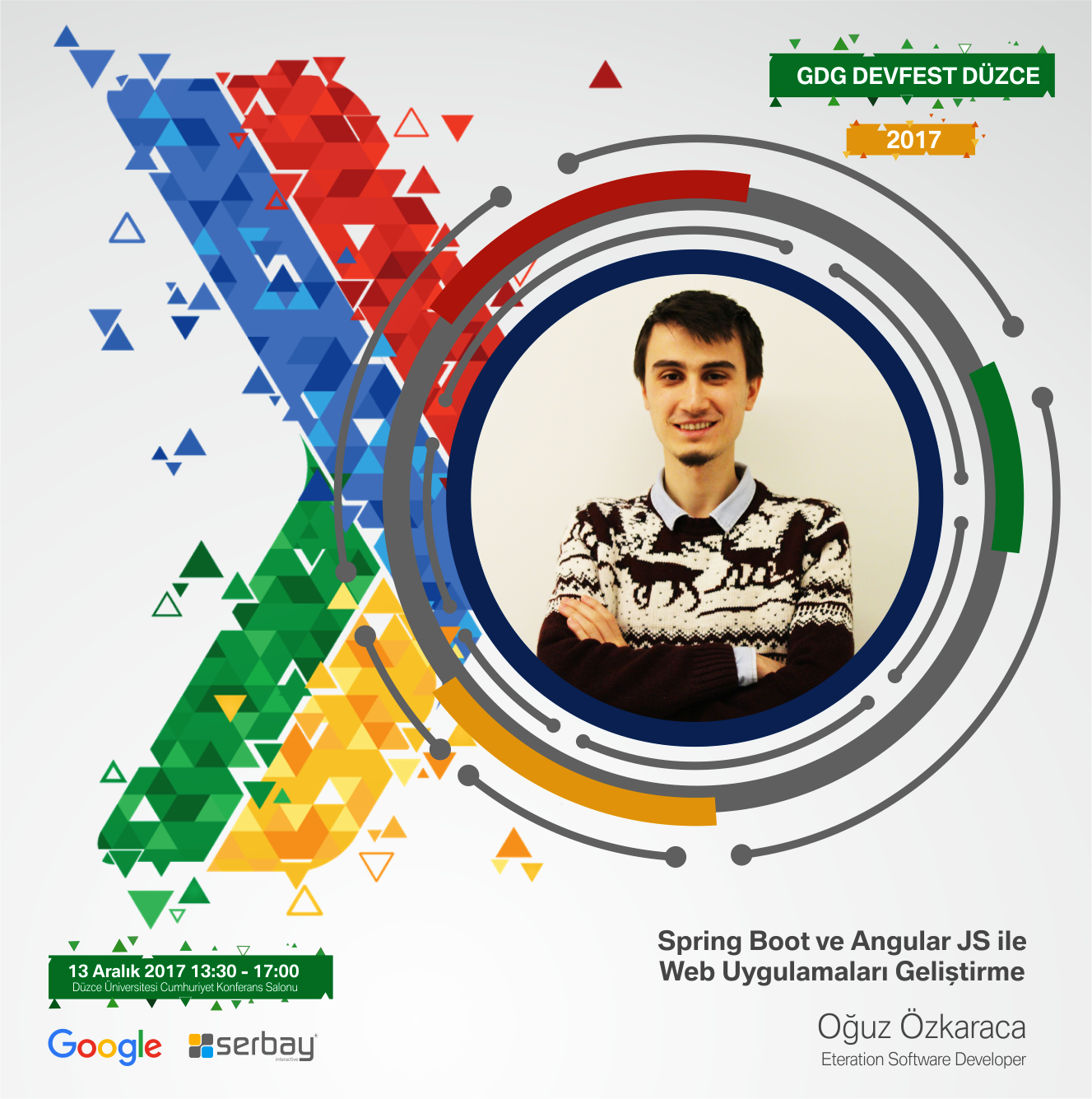 Eteration Software Developer Oğuz Özkaraca, Spring Boot ve Angular JS ile Web Uygulamaları Geliştirme konusunda sunum yapacaktır.