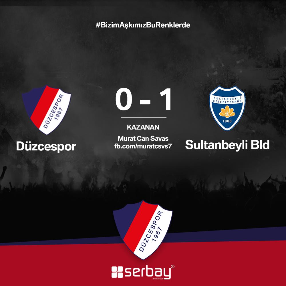 Düzcespor - Sultanbeyli Bld. maçının skor tahminini kazanan talihlimiz. Tebrikler Murat!
