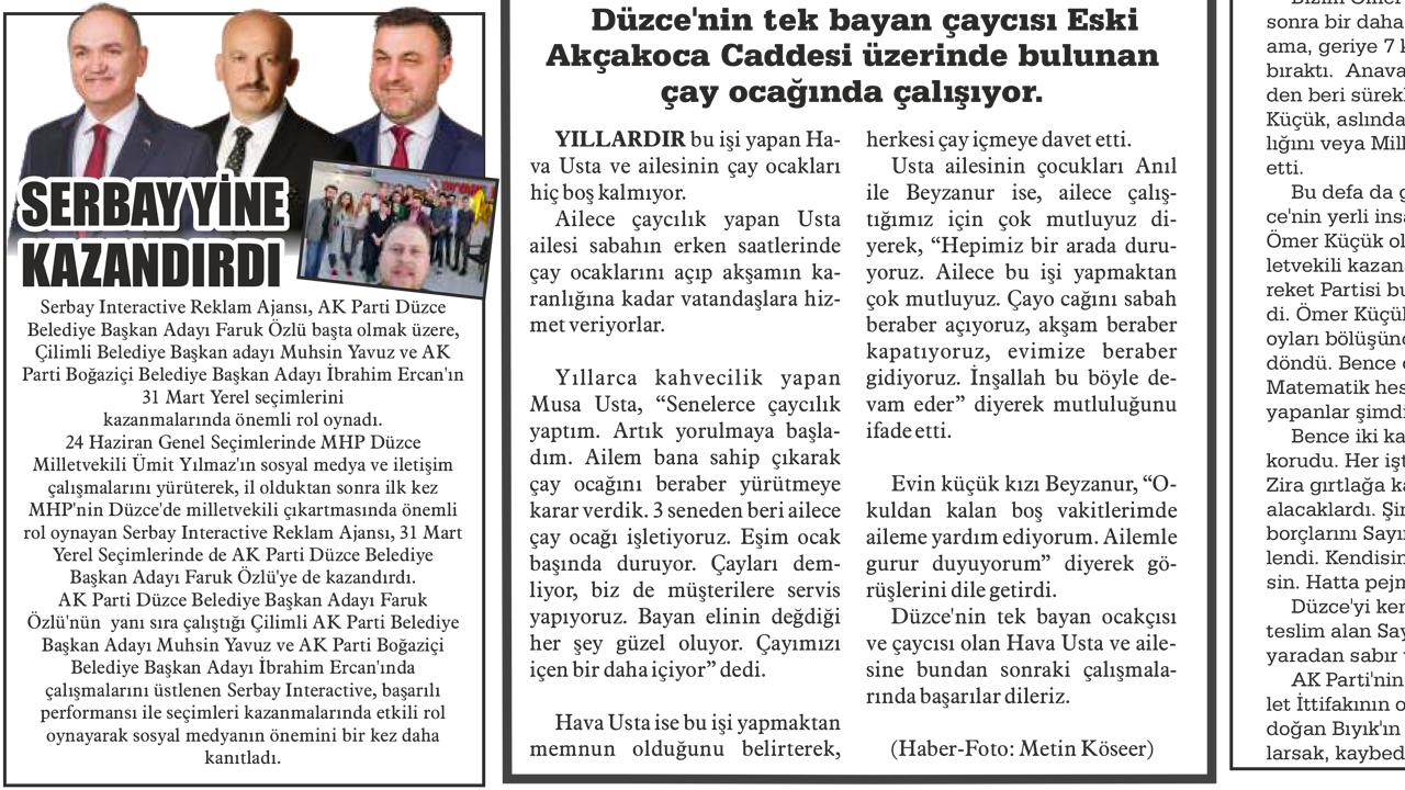 Düzce Postası Gazetesi