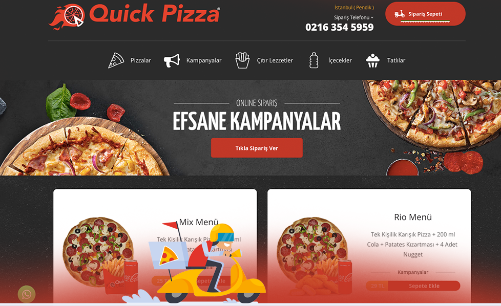 Quick Pizza Yenilendi