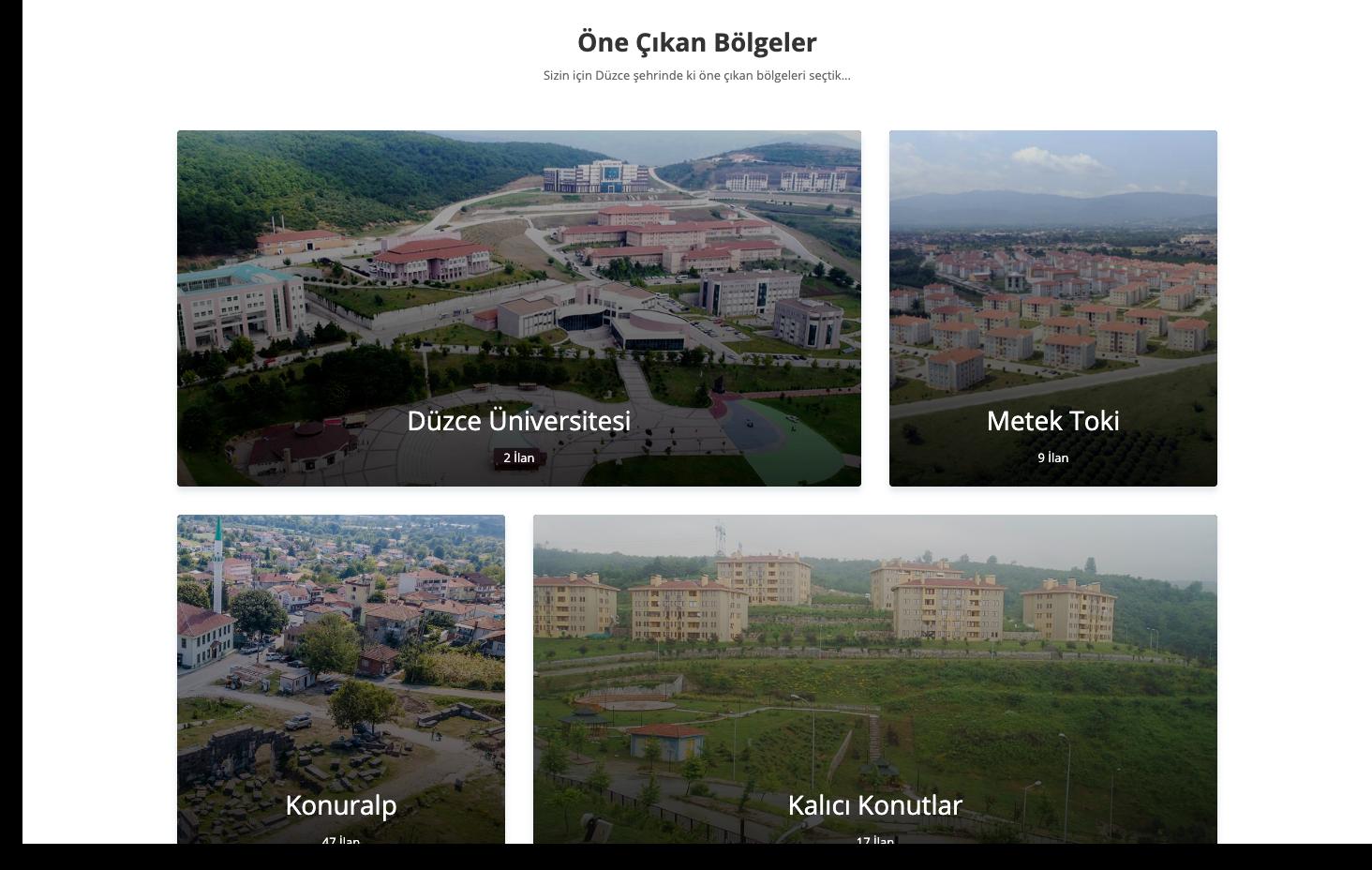 Şu an için Düzce'nin en çok emlak ilanını bünyesinde bulunduran Emlak8.net, önümüzdeki günlerde tüm Türkiye'de Düzce'de ki başarısını sürdürmeyi amaçlamaktadır.