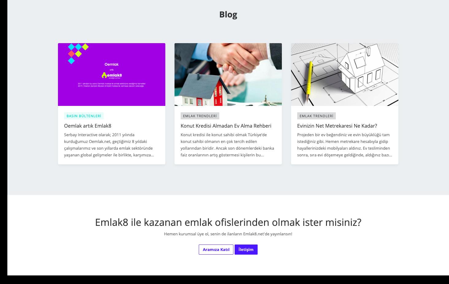 Emlak8.net'i rakiplerinden ayıran emlak ofislerinin sadece ilan yayınladığı bir platform değil, kendi web sitelerindeki ilanların otomatik ücretsiz yayınlandığı bir platformdur.