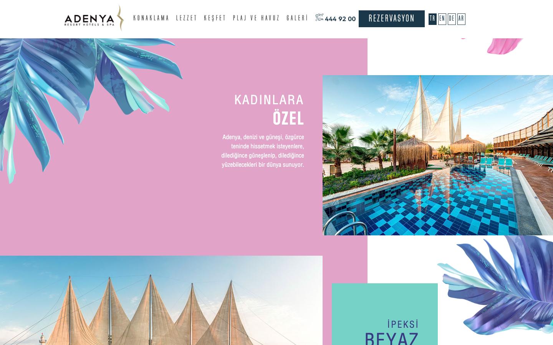 Adenya Hotels Web Sitesi Yayında