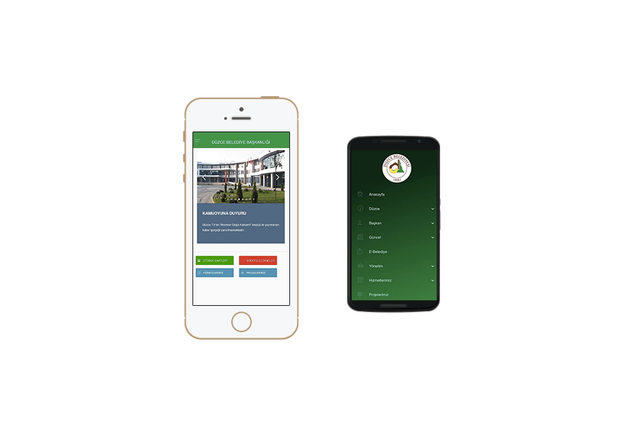 Düzce Belediyesi Mobil Site