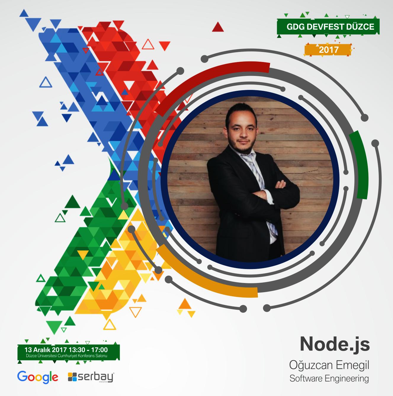 Software Engineering Oğuzcan Emegil, Node.js konusunda sunum yapacaktır.