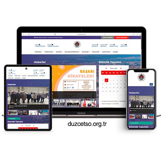 Düzce Ticaret ve Sanayi Odası Web Sitesi Yenilendi